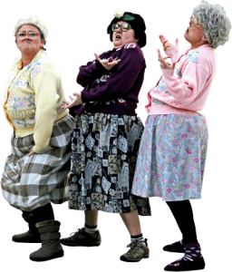 Dancing Grannies at Specsavers