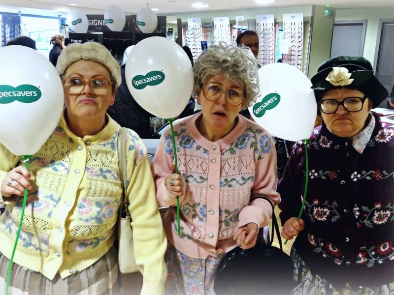 Dancing Grannies at Specsavers Wolverhapton