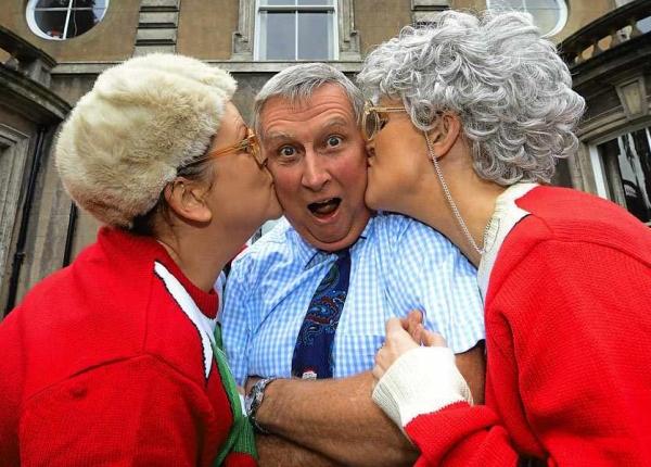 Dancing Grannies open hospice orangery