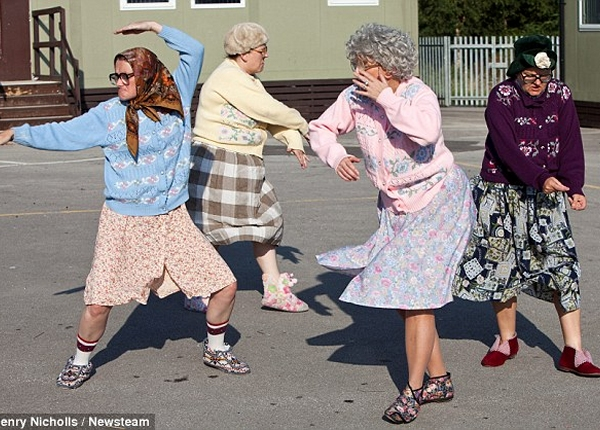 Gran-nam style! Hilarious video shows four raunchy dancing grannies twerking and grinding to pop hits