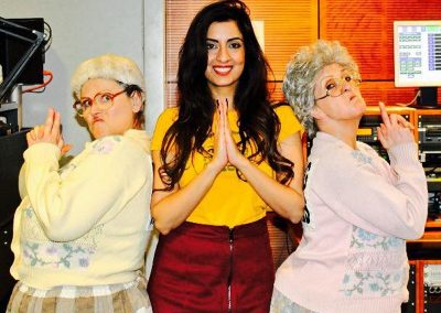 Letty & Hilda got interviewed on BBC Asian Network by the rather beautiful Noreen Khan